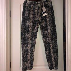 Zara High Rise Skinny Snake Print Pants